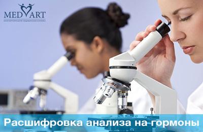 Расшифровка анализа крови на гормоны
